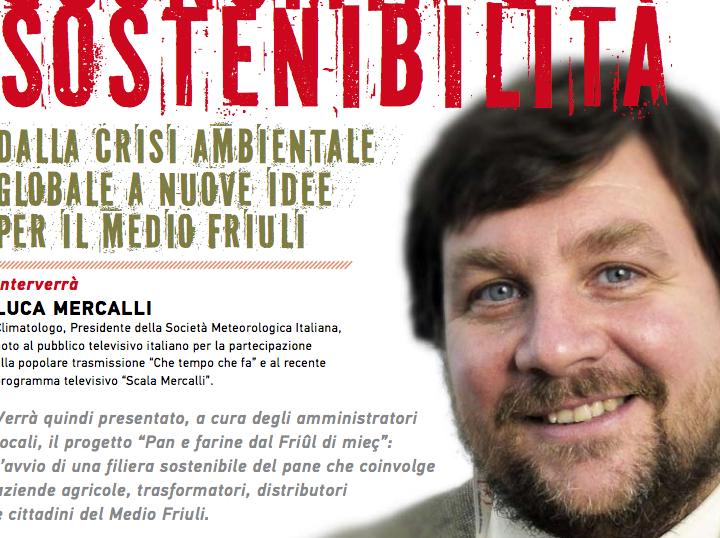 """Luca Mercalli a Sedegliano per """"Economia e Sostenibilità"""""""