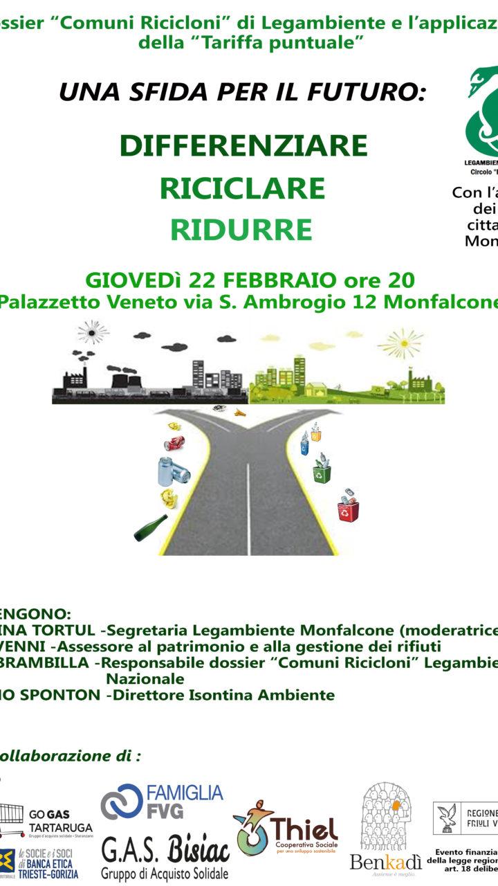 """Incontro pubblico: """"Una sfida per il futuro: Differenziare, Riciclare, Ridurre i rifiuti"""""""
