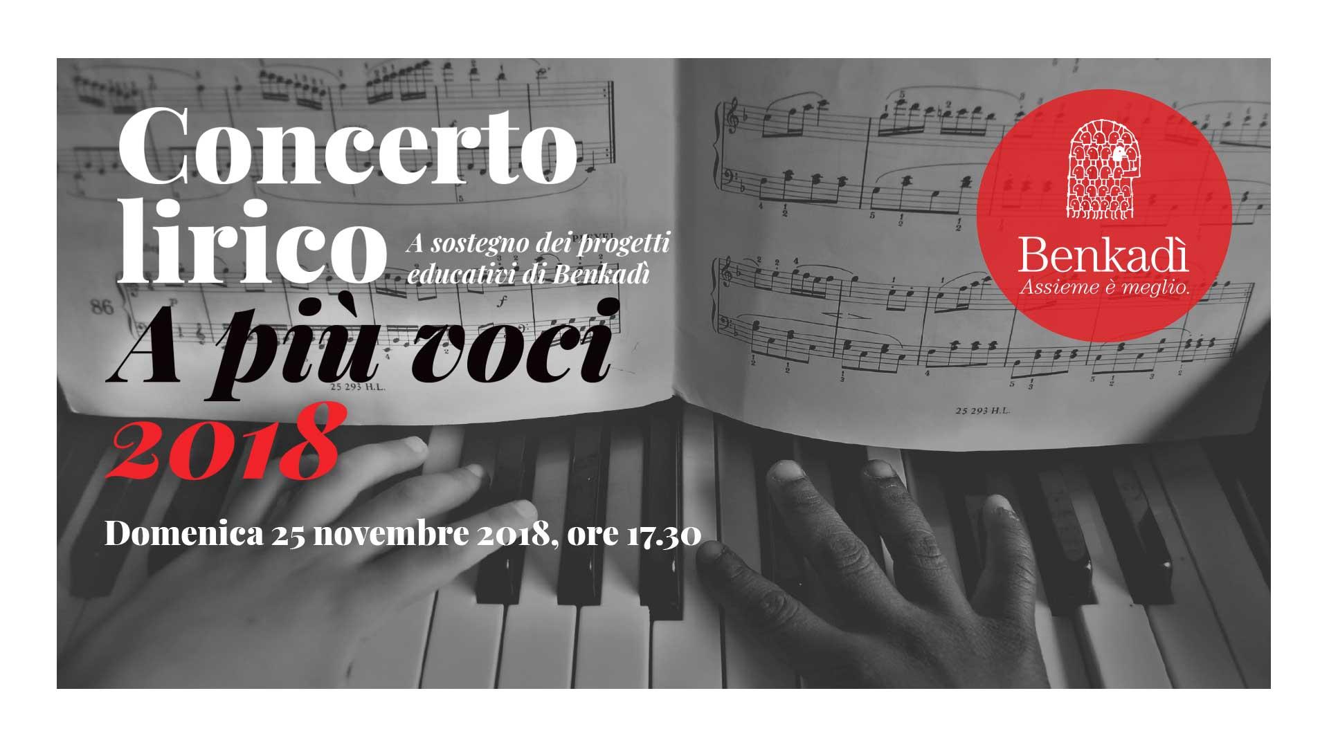 Concerto lirico a più voci 25 novembre